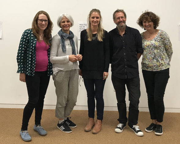 Dr Cetta Mainwaring (University of Glasgow), Dr Giovanna Fassetta (University of Glasgow, GRAMNet), Dr Lisa Hartley (CHRE), Andrew Nixseaman and Frances Nixseaman (volunteer team coordinators in Chios, Greece)