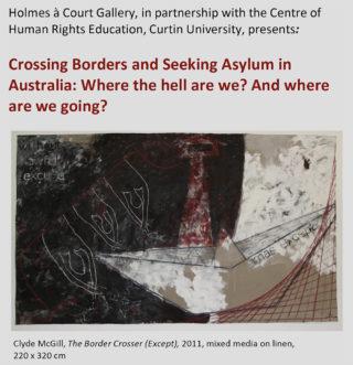 Clyde McGill, The Border Crosser (Except), 2011, mixed media on linen, 220 x 320 cm