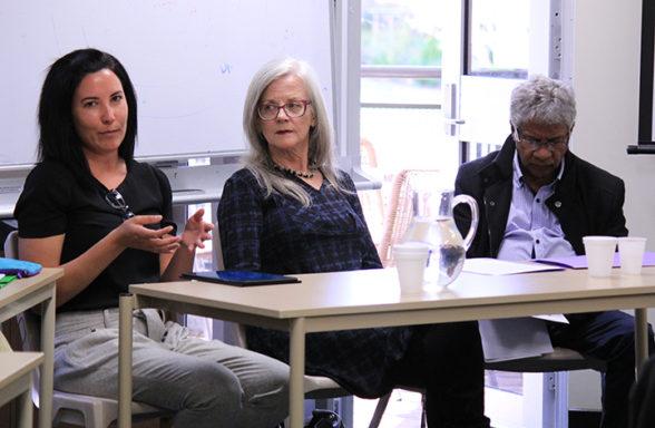 Elfie Shiosaki, Anna Haebich, Darryl Kickett AAPI Seminar 20 Sept 2017