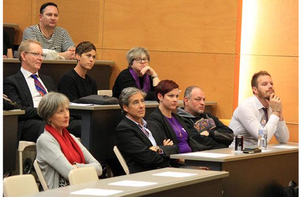Panel speakers listening