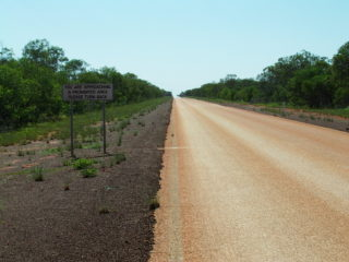 The road to Curtin Immigration Detention Centre. Photo by Caroline Fleay