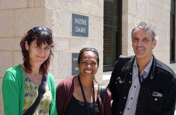 Dalisa Pigram, Rachael Swain and Steve Kinnane