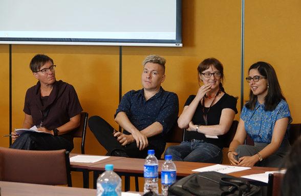 Tanja Dreher, Rob Cover, Anna Szorenyi, Sukhmani Khorana Day 2 InASA Conf Christopher Macfarlane