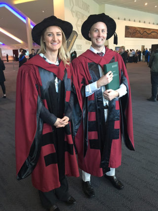 Dr Lisa Hartley with Dr Gerard Gill