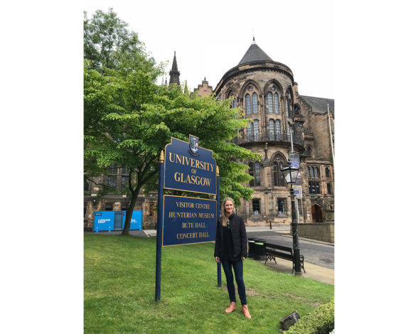 Lisa Hartley at the University of Glasgow