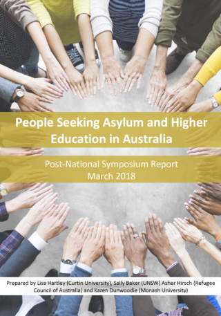 Cover of People Seeking Asylum and Higher Education: Post-National Symposium Report
