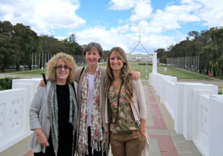 L-R: Professor Linda Briskman, Dr Caroline Fleay and Dr Lisa Hartley in Canberra