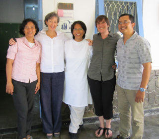 Caroline and Lucy with Jesuit Refugee Service in Yogyakarta